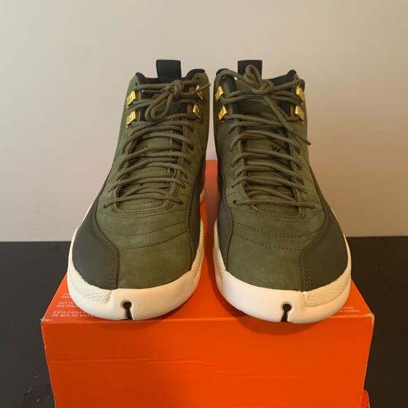 best service a7cc0 354b4 Nike Air Jordan Retro 12 Class of 2003 olive Green